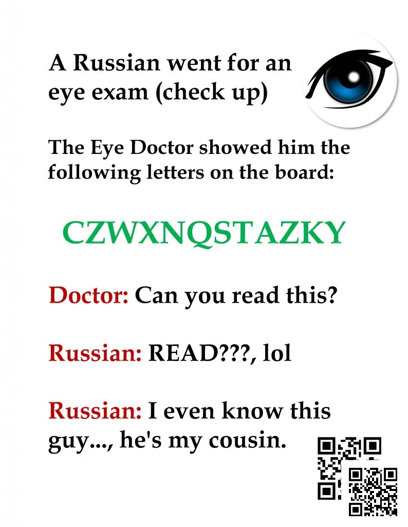 Russian's Eye Exam