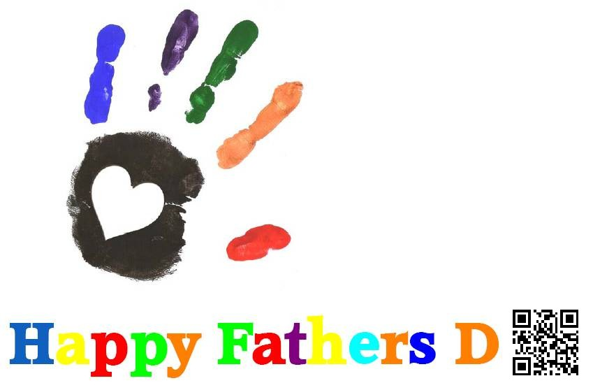 father's day greetings cards-hand-print